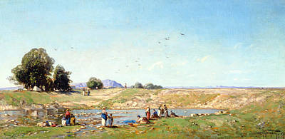 The Durance Valley, 1867 Oil On Panel Art Print