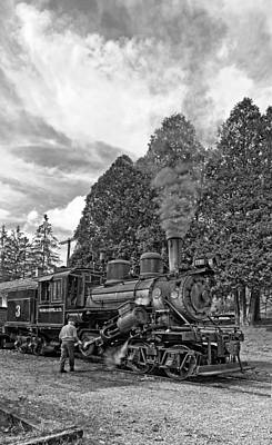 Train Photograph - The Durbin Rocket Monochrome by Steve Harrington