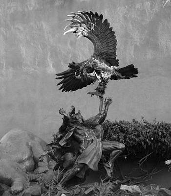 Photograph - The Eagle And The Indian In Black And White by Rob Hans