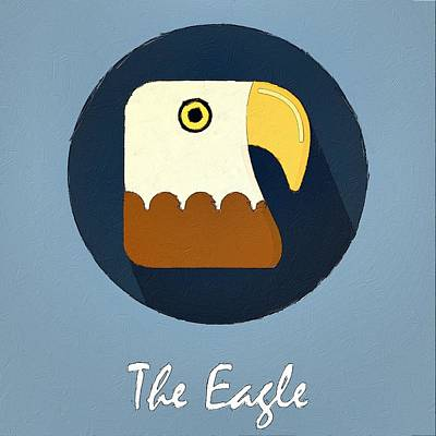 Painting - The Eagle Cute Portrait by Florian Rodarte