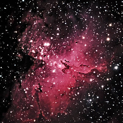 Photograph - The Eagle Nebula In The Constellation Serpens by Alan Vance Ley