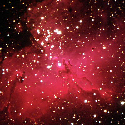 Photograph - The Eagle Nebula, M16 by A. V. Ley