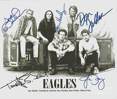 The Eagles Autographed Art Print by Desiderata Gallery