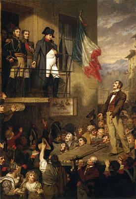 Napoleon Bonaparte Digital Art - The Eagle's Flight Napoleon by Hughes Merle