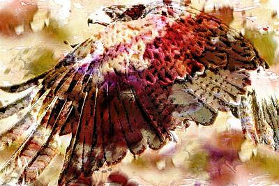 Painting - The Eagles Wing by Roger D Hale