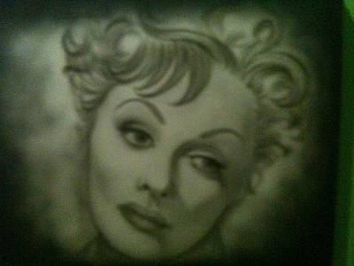 The Early Years Of Lucille Ball Art Print by Shawn Hughes