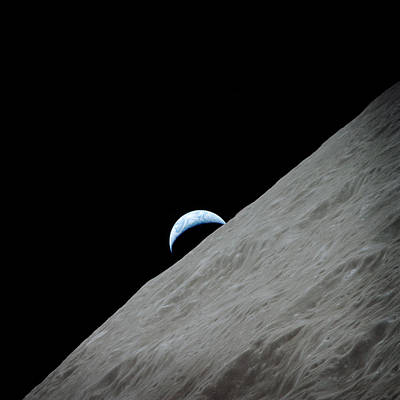 Photograph - The Earth From Moon by Celestial Images