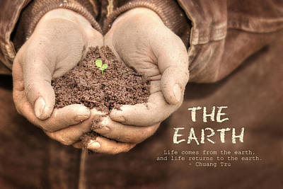 Farming Digital Art - The Earth by Lori Deiter