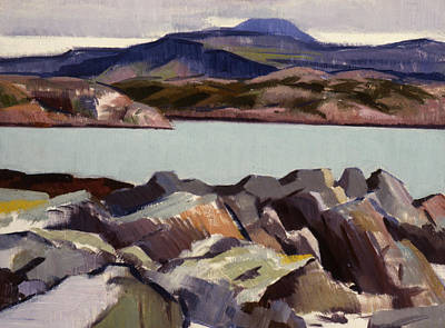 Cloudy Day Painting - The East Bay  Iona by Francis Campbell Boileau Cadell