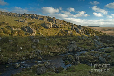 Photograph - The East Dart River Valley Dartmoor 1020 by Colin Munro