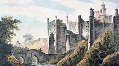 Castles Drawing - The East End Of The Fort Of Mongheer by William Hodges