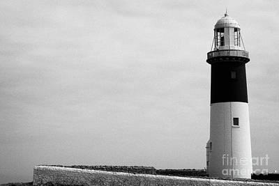 The East Light Lighthouse Altacarry Altacorry Head Rathlin Island Against Grey Sky County Antrim Nor Art Print by Joe Fox