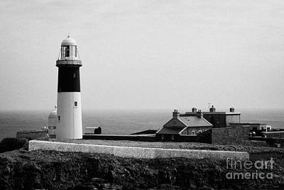 The East Light Lighthouse And Buildings Altacarry Altacorry Head Rathlin Island  Art Print by Joe Fox