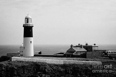 Irish Folklore Photograph - The East Light Lighthouse And Buildings Altacarry Altacorry Head Rathlin Island  by Joe Fox