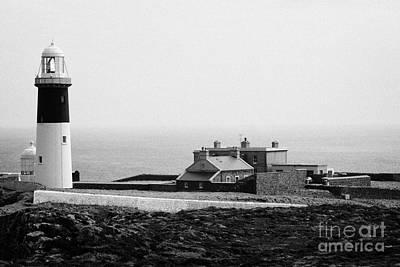 Irish Folklore Photograph - The East Light Lighthouse And Buildings Altacarry Altacorry Head Rathlin Island Northern Ireland by Joe Fox