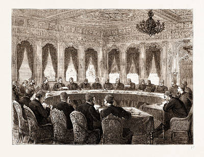Constantinople Drawing - The Eastern Question A Ministerial Council At Constantinople by Litz Collection