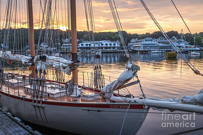 Photograph - The Eastwind In Boothbay Harbor by Susan Cole Kelly