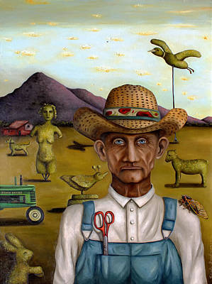 Old Barn Painting - The Eccentric Farmer Edit 2 by Leah Saulnier The Painting Maniac