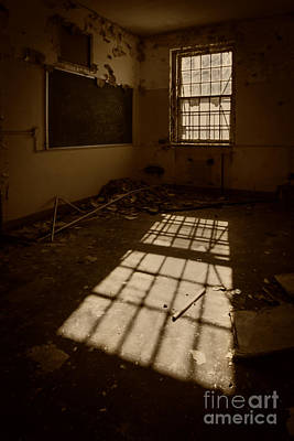 Asylum Photograph - The Echo Of Emptiness by Evelina Kremsdorf
