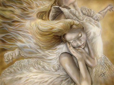Etherial Painting - The Ecstasy Of Angels by Wayne Pruse