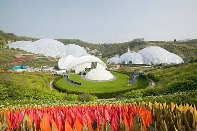 Transformed Photograph - The Eden Project In Cornwall by Ashley Cooper