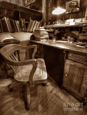 Art Print featuring the photograph The Editor's Desk by ELDavis Photography