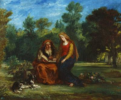Education Painting - The Education Of The Virgin by Eugene Delacroix