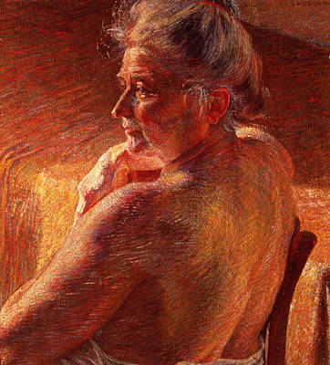The Effect Of Sunlight Art Print by Umberto Boccioni