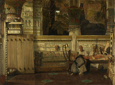 Alma Drawing - The Egyptian Widow, Lawrence Alma Tadema by Litz Collection