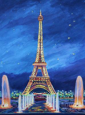 Eiffel Tower Painting - The Eiffel Tower And Fountains by John Clark