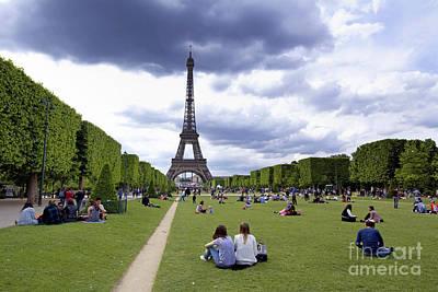 The Eiffel Tower And The Champ De Mars. Paris. France Art Print by Bernard Jaubert