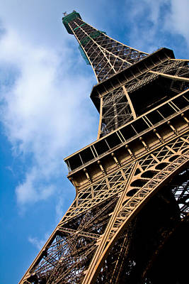 The Eiffel Tower From Below Art Print by Nila Newsom