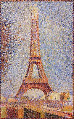 Pointilist Painting - The Eiffel Tower by Georges Seurat