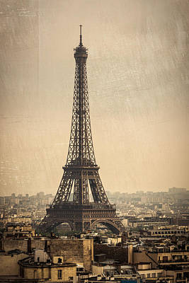 The Eiffel Tower In Paris France Art Print