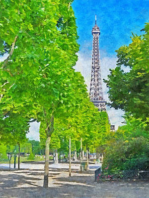 Digital Art - The Eiffel Tower In The Spring Of 2014 by Digital Photographic Arts