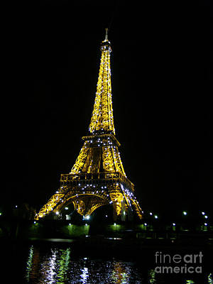 Photograph - The Eiffel Tower by Joan Liffring-Zug Bourret