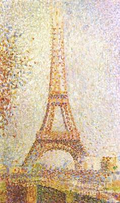 Painting - The Eiffel Tower by Pg Reproductions