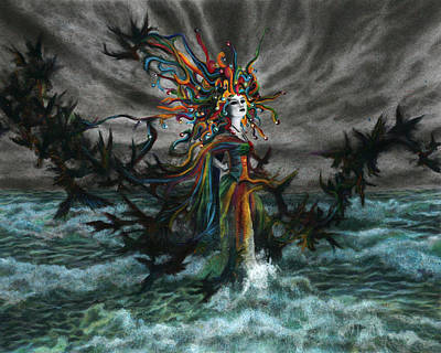 Metaphysical Drawing - The Eighth Fool by Kd Neeley