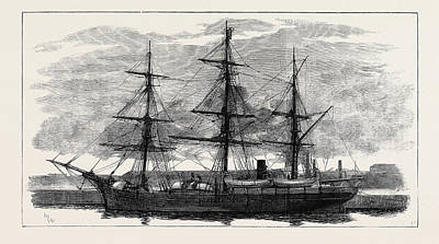 The Eira Arctic Relief Expedition Under Captain Sir Allen Print by English School