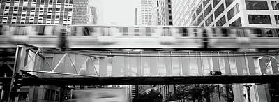 The El Elevated Train Chicago Il Art Print by Panoramic Images