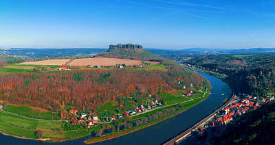 Photograph - The Elbe Around The Lilienstein by Sun Travels