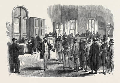 The Elections In France Electors Voting At The Mairie Art Print