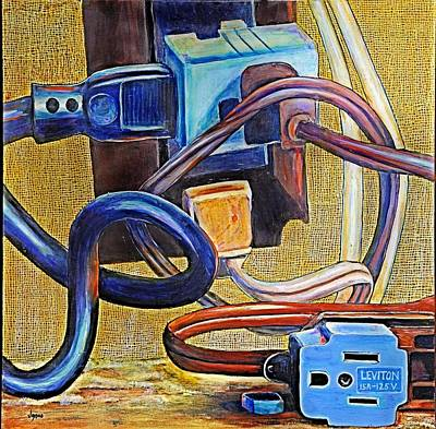 The Electronic Age Art Print by JAXINE Cummins