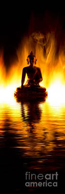 Meditating Photograph - The Elemental Buddha by Tim Gainey