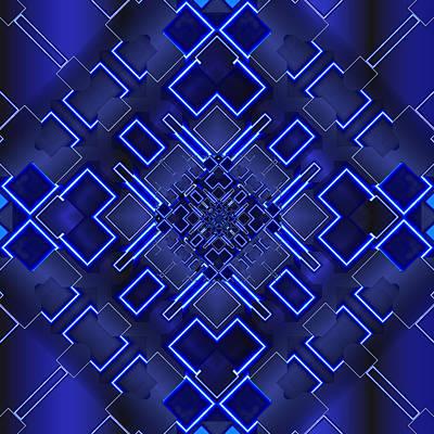 Tron Wall Art - Digital Art - The Elements Of Light by Mario Carini