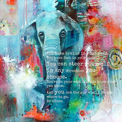 Abstract Wall Art - Photograph - The Elephant And The Butterfly Drseuss Quote by Tracy Verdugo