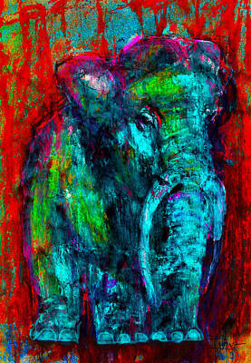 Mixed Media - The Elephant In The Room by Jim Vance