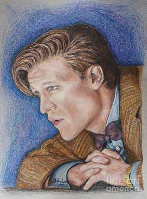 11th Doctor Drawing - The Eleventh Doctor by Christine Jepsen