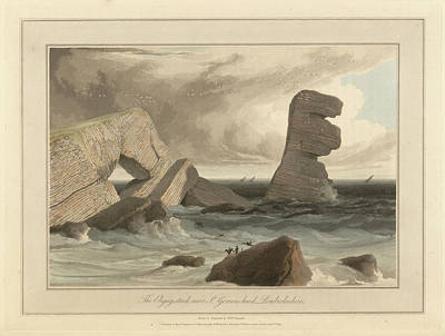 The Eligug Seastack And Rock Arch Art Print by British Library