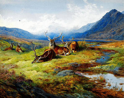 Celestial Painting - The Elks by Celestial Images